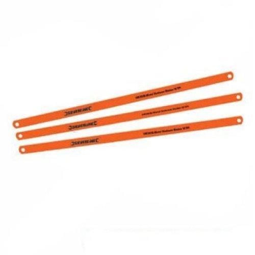 Pack Of 2 Silverline Cobalt 18tpi Hacksaw Blades - 2pk 245039 -  hacksaw blades cobalt 2pk 18tpi silverline 245039