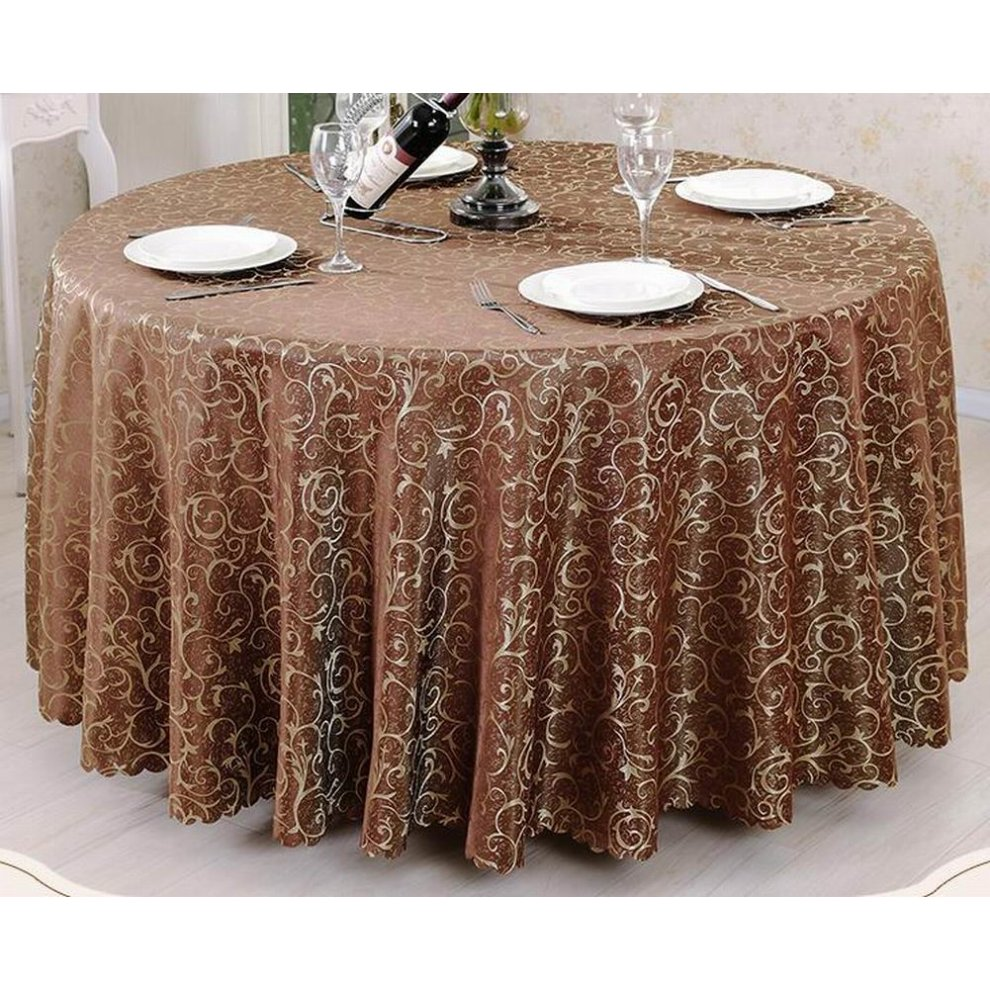 Exquisite Hotel Tablecloth Round Table Cloth Banquet Table Linen, Coffee