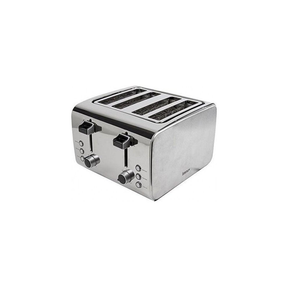 b8862ef3d92 Igenix Ig3204 4 Slice Toaster - Brushed polished Stainless Steel on ...