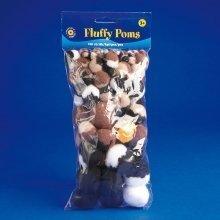 Pbx2470007 - Playbox - Fluffy Poms (animals ) - 100 Pcs