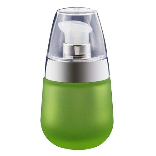 Set of 2 Empty Glass Bottles with Pump 1 Oz (30 ml) [Matte Green-1]