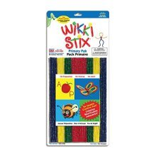 Wikki Stix Primary Colors Molding & Sculpting Sticks (English & French Bilingual Packaging)