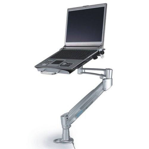 Newstar Desk Mount (clamp) for Laptop (Full Motion Gas Spring) - Silver