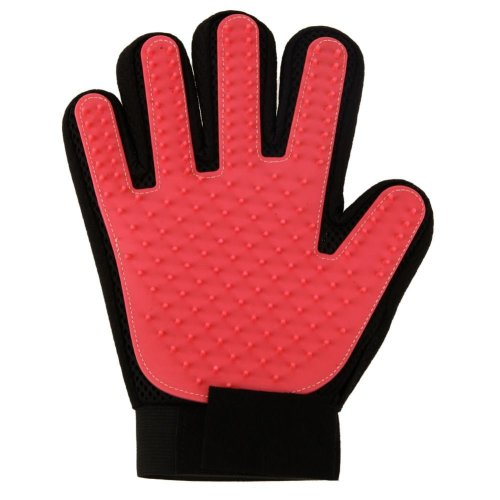 Vinsani [2 X Red] Pet Grooming Glove Brush Massager, Pet Hair Remover Mitt Deshedding Glove - Perfect for Dogs & Cats with Long & Short Fur