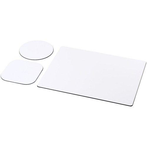 Brite-Mat Mouse Mat And Coaster Set Combo 1 (Pack Of 3)