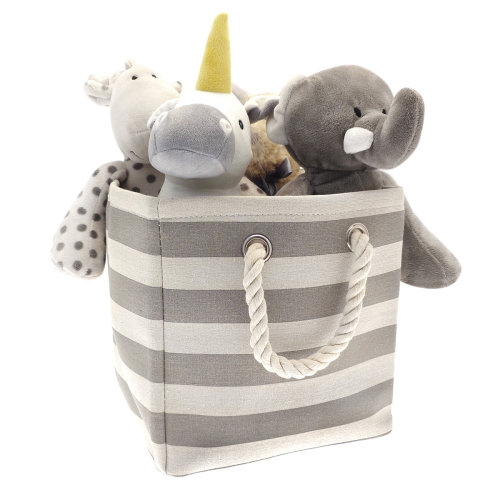 Country Club Collapsible Storage Bag, Grey Stripes