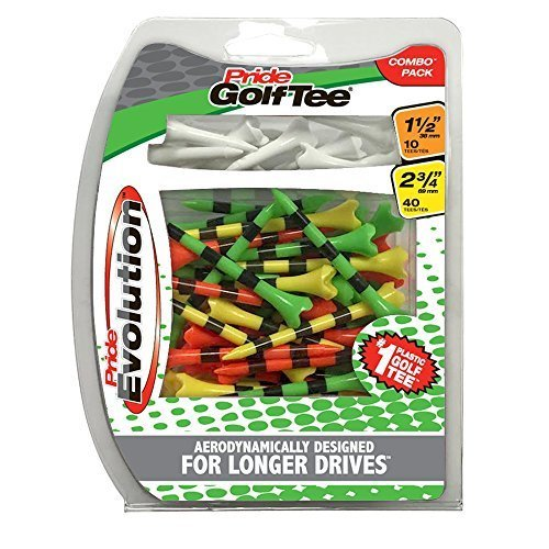 Pride Golf Tee Evolution Combo Pack 50 Count 40 3 1 4 10 1 1 2