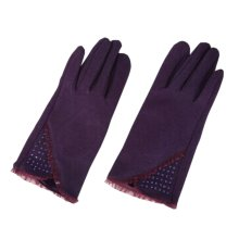 Womans Purple [Hope] Short Warm Gloves Party Driving Wedding Dance Winter Gloves
