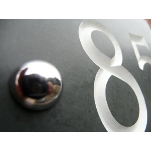 Engraved Slate House number sign - 1 to 100