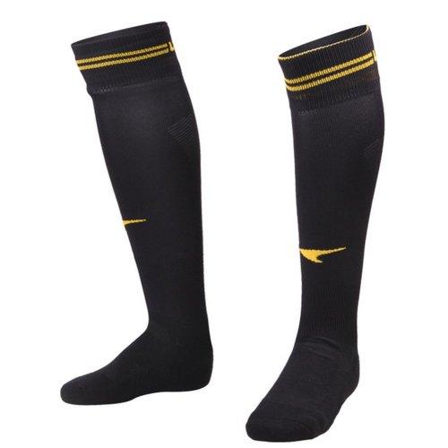 Black Professional Knee Length Football Socks for Adult
