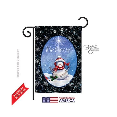 Breeze Decor 64118 Christmas Believe 2-Sided Impression Garden Flag - 13 x 18.5 in.