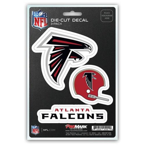 Pro Mark DST3NF02 Atlanta Falcons Decal - Pack of 3