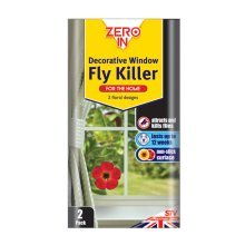 Twin Pack Of Decorative Window Fly Killers - Killer Zero -  window fly decorative killer zero pack twin