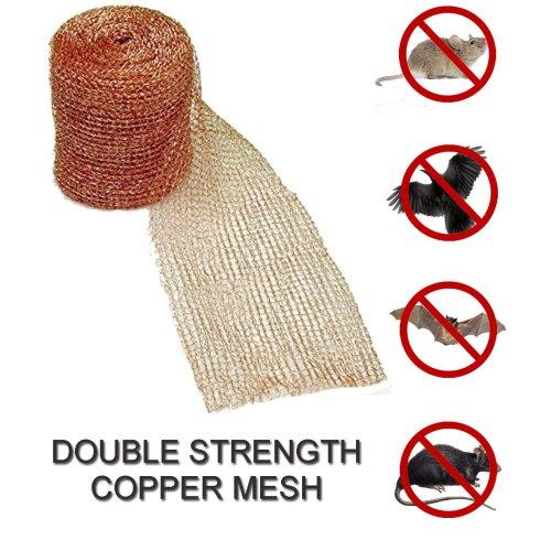 "100`x4"" Copper Mesh Mouse Bird Deterrent Rodent Control"