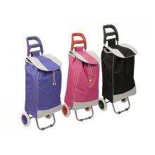 Heavy Duty Striped Shopping Trolley - Deluxe Lightweight Luggage Bag Wheels -  deluxe heavy duty lightweight shopping trolley luggage bag wheels