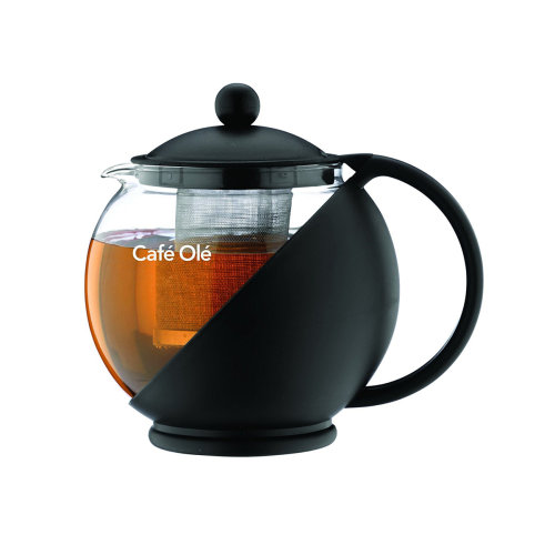 Cafe Ole Teapot with Infuser Black 750ml