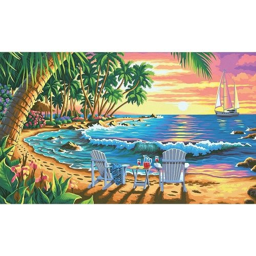 Dpw91444 - Paintsworks Paint by Numbers - Sunset Beach