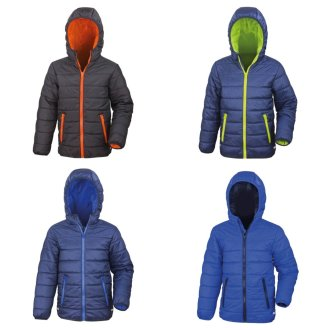Result Core Childrens/Kids Junior Padded Showerproof & Windproof Jacket