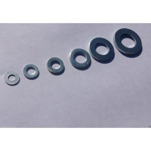 100 Pack Bright Zinc Plated Form A Flat Washer Mixed Pack M4 to M10
