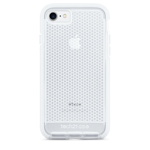 outlet store 2f9af 63c7c Tech21 Evo Mesh Case Cover for iPhone 8/7 - White Clear - T21-5404