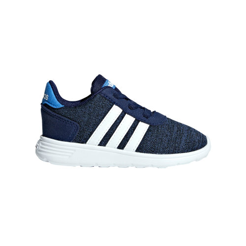 adidas Lite Racer Infant Kids Boys Sports Trainer Shoe Navy Blue