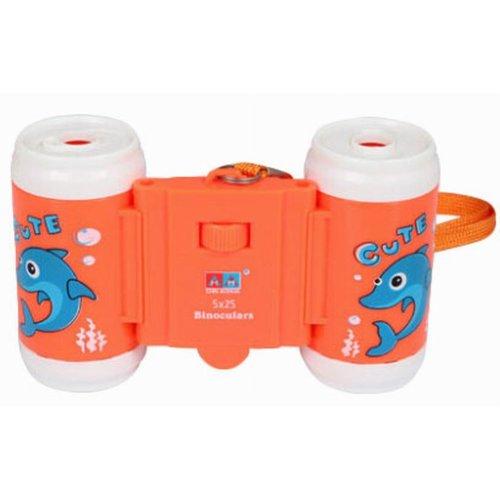 Kids Toy Binocular Cute Telescope Outdoor Science Explore Educational Toy Orange