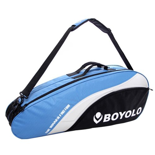 Modern Simple Badminton Equipment Bag Badminton Racket Bag BLUE