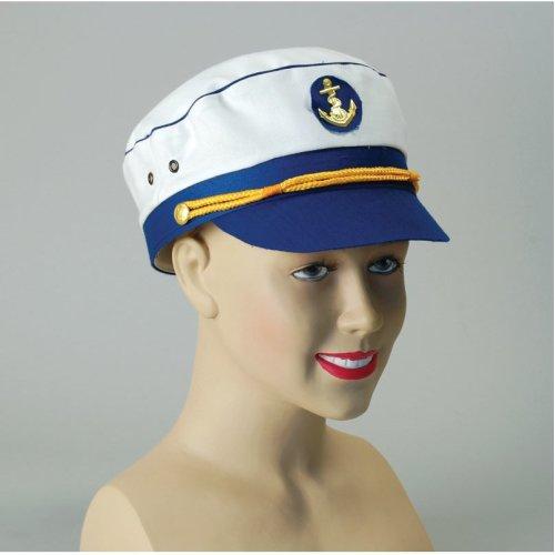 Ladies Navy Sea Captain Hat - hat fancy captain dress sailor lady navy  accessory marine