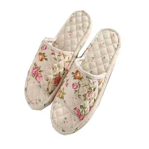 Classic Rose Pattern Style Cotoon Slippers/Elegant Women Slippers
