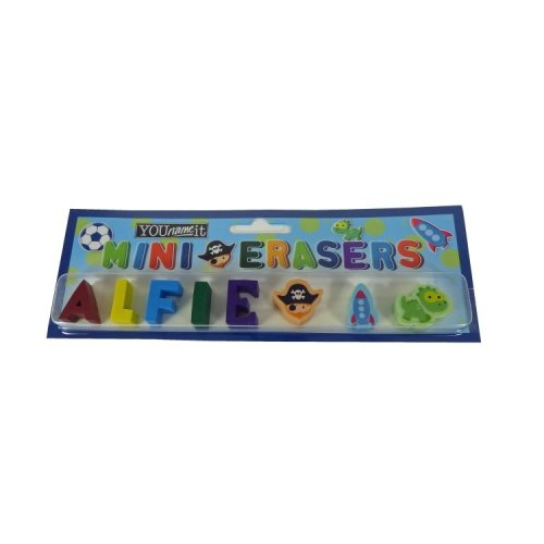 Childrens Mini Erasers - Alfie