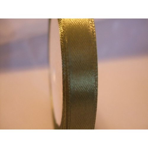 Satin Ribbon Roll - 10mm Wide - 25 Yards (22 Metres) - Sage Green