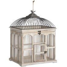 Antique White Vicotrian Bird Cage