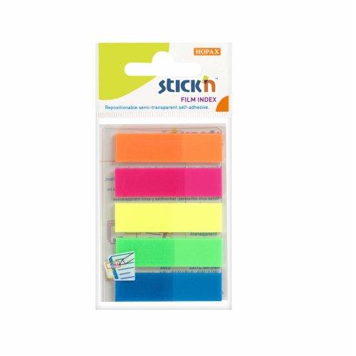 Stick N 21050 Value 12 mm Film Index Tab - Neon Multi-Colour