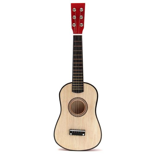 "Natural 23"" Wooden Beginners Mini Acoustic Guitar 6 String Gift Children Music Toy"