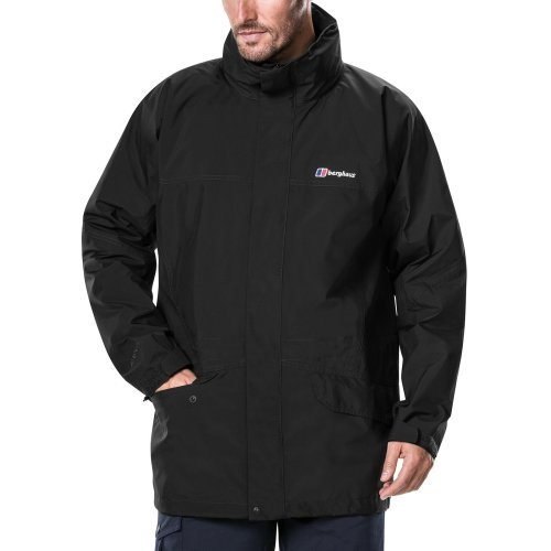 Berghaus Men's Iii Gore Tex Walking Shell Cornice Jacket, Black/Black, XX-Large