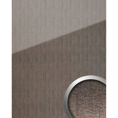 WallFace 20219 ALIGNED Silver AR+ Design panelling glass look grey silver 2.6 m2