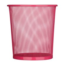 Wire Mesh Waste Paper Bin For Home Office, Hot Pink