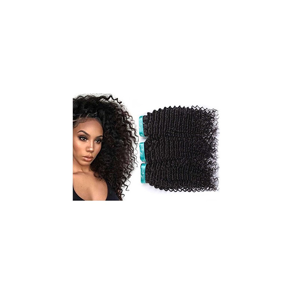 Swan Kinky Curly Grade 7a Brazilian Hair Mixed Length 3 Bundles