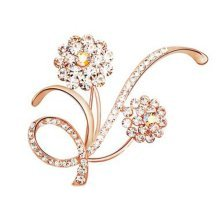 Jewelry Accessory For Women Set of 2 Alloys Vintage Jewelry Pins Floral Brooches