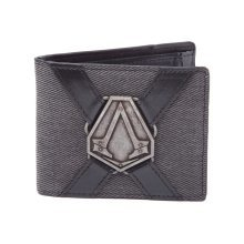 Assassins Creed Syndicate Metal Brotherhood Crest Pendant Bi-Fold Wallet - Black