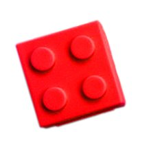 Creative Candy Color Toy Block 4 Compartment Pill Box-Red