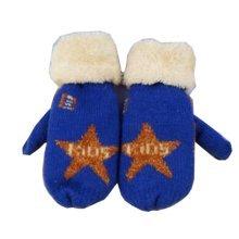 Velvet Warm Blue Gloves 4-8 Years Children Winter Thicken Mittens