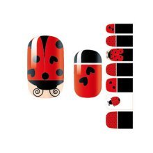 3 Sheet Nail Decals Colorful Nail Wraps Nail Art Stickers Decoration Ladybirds