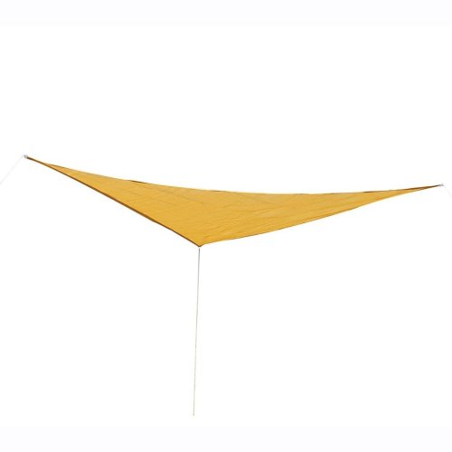 Outsunny 3M Triangle Shade Sail - Sand | Triangular Sun Shade Canopy