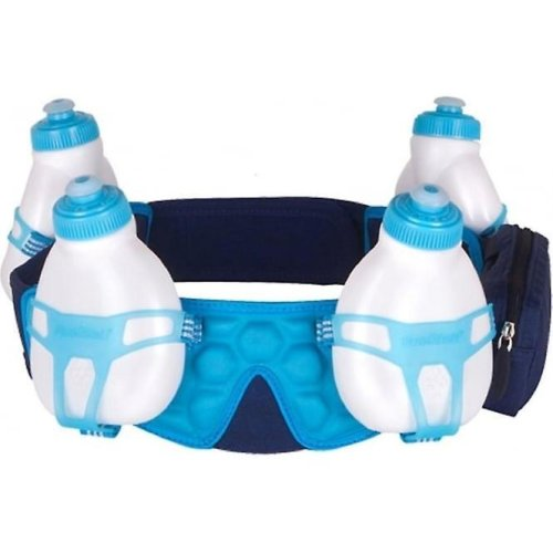 Fuelbelt Helium 4 Bottle Belt - Small Deep Sea Blue/Honolulu Blue