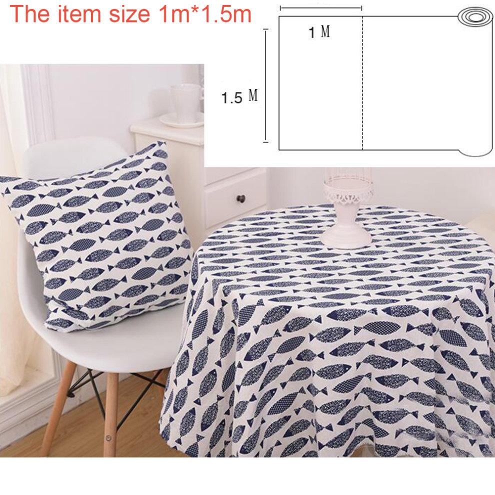 Linen Cloth Handmade Lovers Diy Sofa Cover Tablecloth Curtains A8
