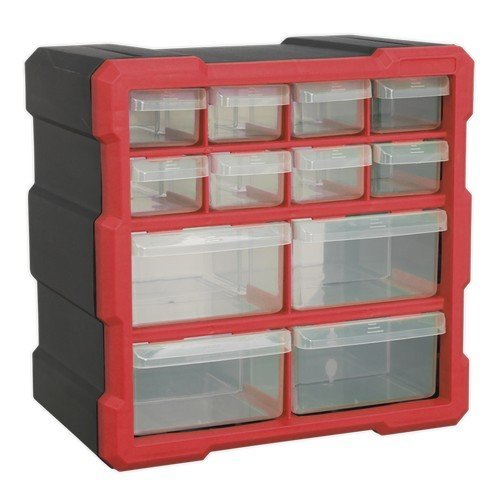 Sealey APDC12R Cabinet Box 12 Drawer - Red/Black
