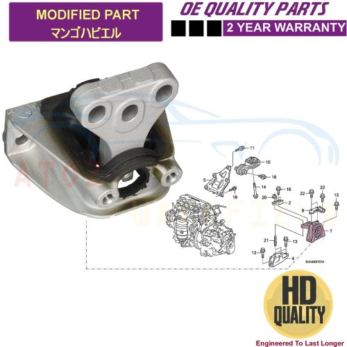 FOR HONDA CIVIC FD FA 1.8 2.0 TYPE R FRONT LEFT HYDRO ENGINE MOUNTING MOUNT