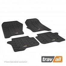 Travall Rubber Car Floor Mats [rhd] - Fiat 500x (2015-) (4pcs+fix)