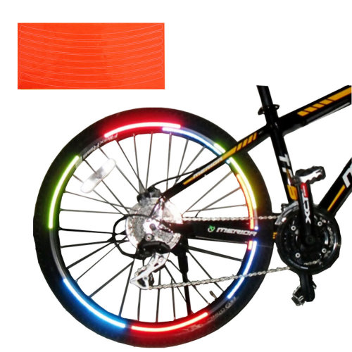 [ORANGE]Unique Colour 6 Pics Reflective Bike Rim Sticker Wheel Decal Sticker